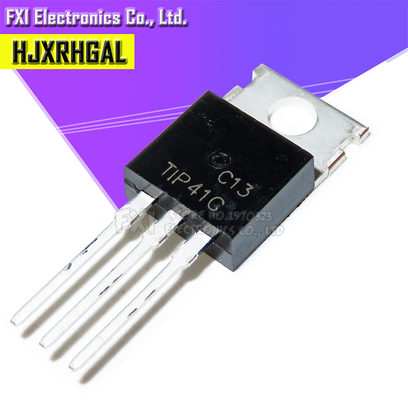 10pcs/lot TIP41C TIP41 6A / 100V  MOSFET Transistor Darlington Bipolar Transistor Original Product