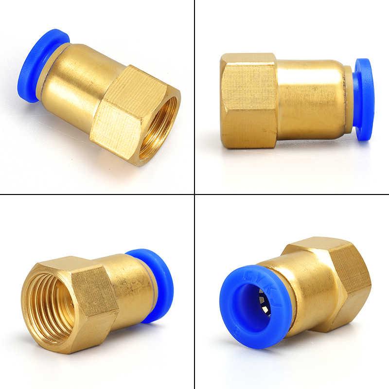 """공압식 퀵 커넥터 공기 피팅 피팅 공압 4 6 8 10 12mm 호스 튜브 파이프 1/8 """"3/8"""" 1/2 """"1/4"""" BSP 암나사"""