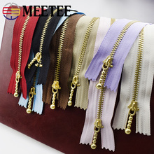 Metal Zipper Bags Jeans Diy-Accessories Tailor-Garments-Handbag Sewing Meetee Gold Close-End