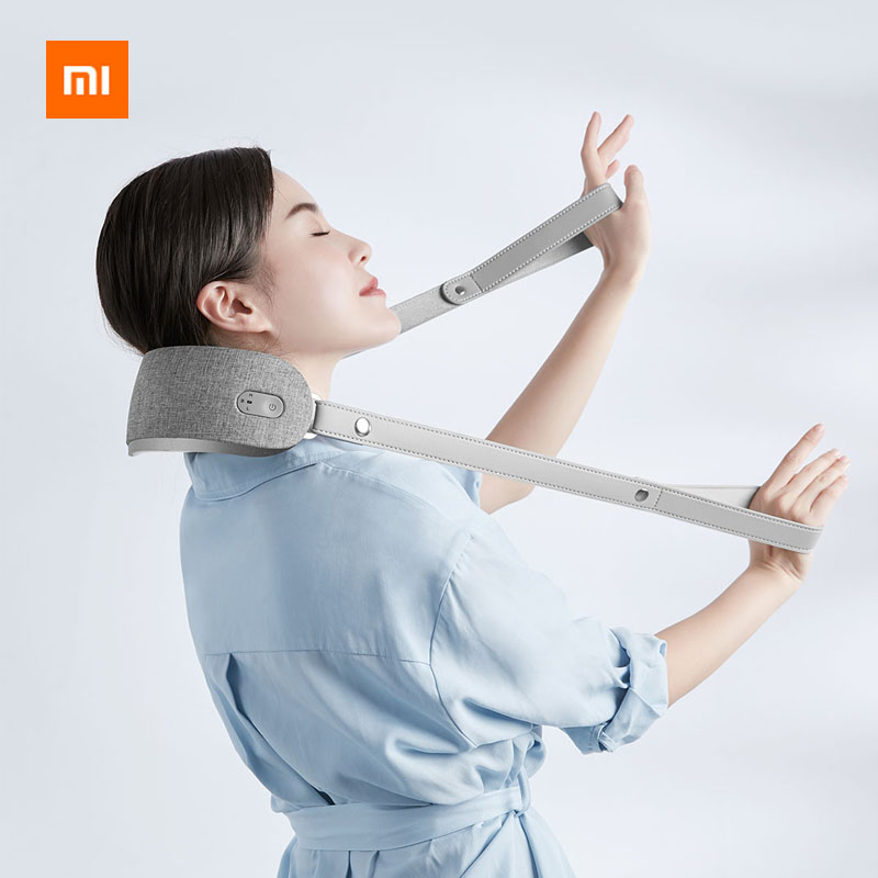 Newest Xiaomi Youpin Neck Kneading Massager 3D Simulation Person Kneading 42 Degree Temperature Sensing Therapy Portable 3Modes image
