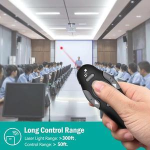 Image 3 - 2.4 2.4ghz の Usb ワイヤレスプレゼンター Pc 赤色レーザーペンポインター Ppt リモコンとハンドヘルドポインタープレゼンテーションのための