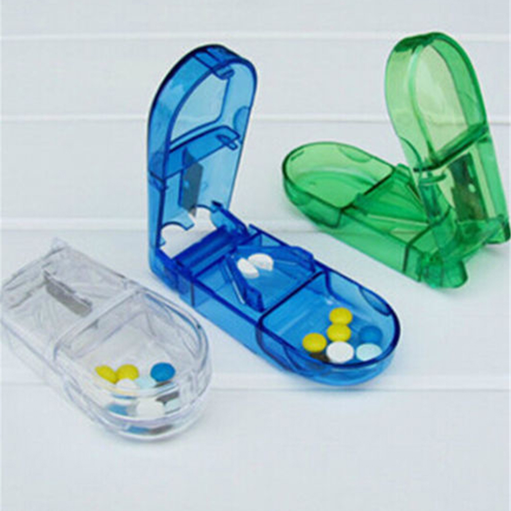 Pill Cutter Box Portable Convenient Storage Box Tablet Cutter Splitter Medicine Pill Holder Pill Cutter Pill Box Pillendoosje