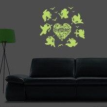 Y0045 эльфы Ангел светящиеся флуоресцентные наклейки гостиная художественное оформление стены в спальне наклейки производители оптом