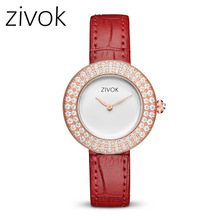 Fashion Women Watches ZIVOK Luxury Brand Girl  Watch Casual Leather Ladies Dress Water Resistant Clock