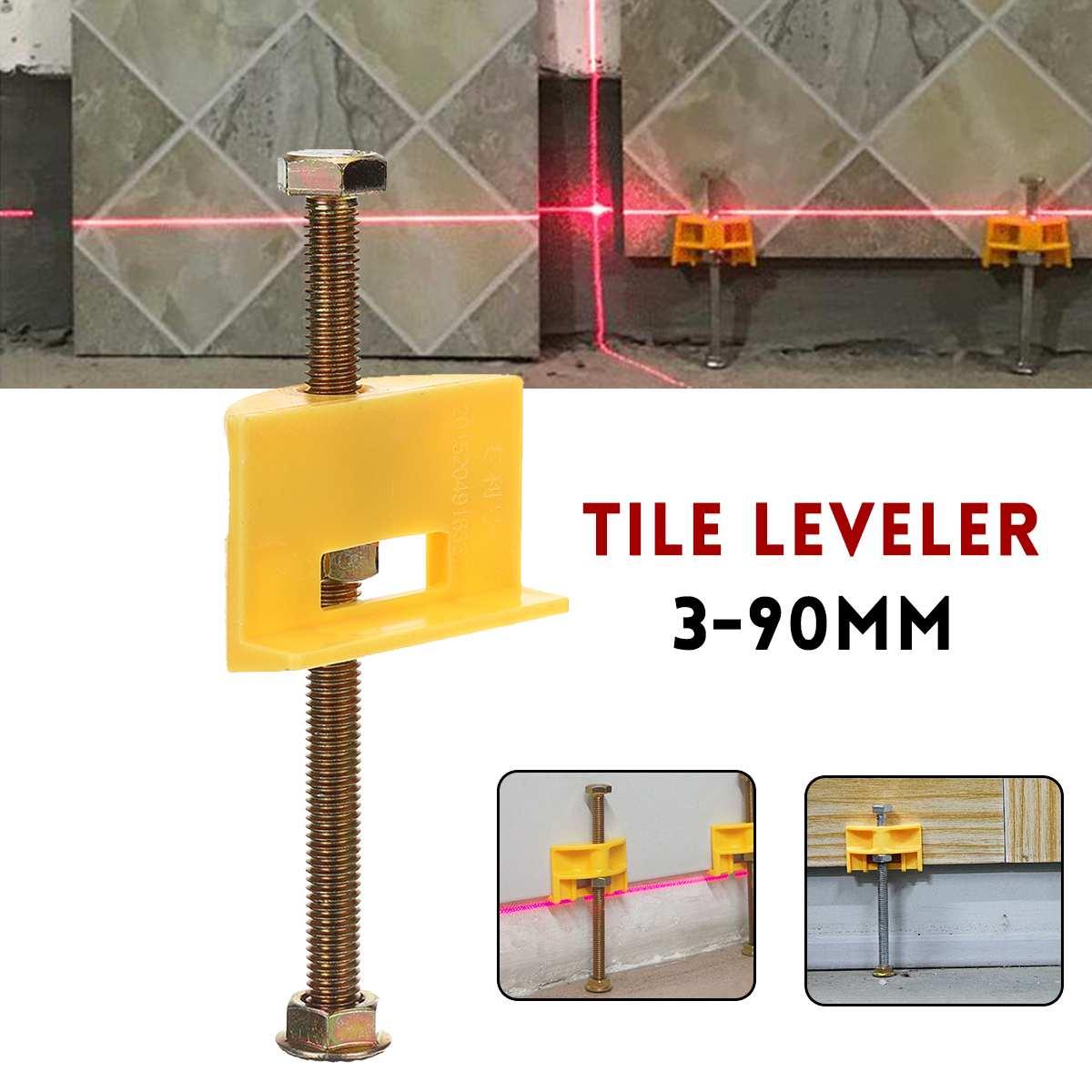 Manual Tile Locator Wall Tiles Regulator Height Adjustment Positioner Leveler Ceramic Fine Thread Rising Construction Tool 10Pcs