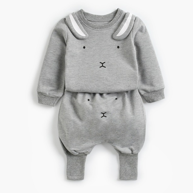 2021 New Newborn Baby Girls Clothes Autumn Baby Boys Clothes Set Kids Costume Infant Baby Clothing Suit Cotton Coat+Pants 6