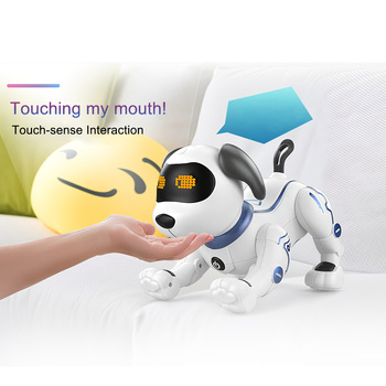 K16A Electronic Pets RC Animal Programable Robot Dog Voice Remote Control Toy Puppy Music Song for Kids Birthday Gift 5