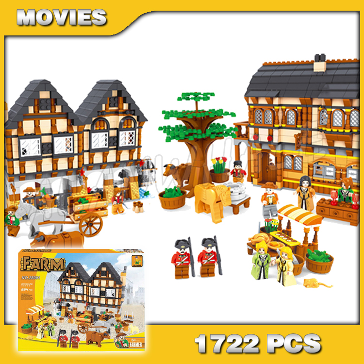 1722pcs Castle Series Medieval Market Village DIY Model Building Kit Blocks Gifts Children Toys brick Compatible with Lago image