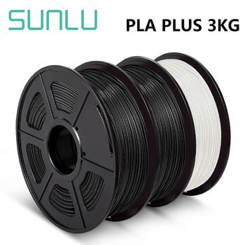 SUNLU 3D PLA PLUS Filament 1kg 1 75mm pla + 3 rolki materiały do 3D długopis PLA Filament z szpulą wytłaczarka Filament dla majsterkowiczów tanie i dobre opinie CN (pochodzenie) solid 335 metrów + -0 02MM 170-190 degree C RoHS Reach 100 No Bubble SUNLU PLA + Filament Eco-friendly Bright color low shrinkage