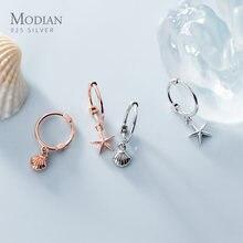 Modian новый 925 стерлингового серебра роскошный Морская звезда