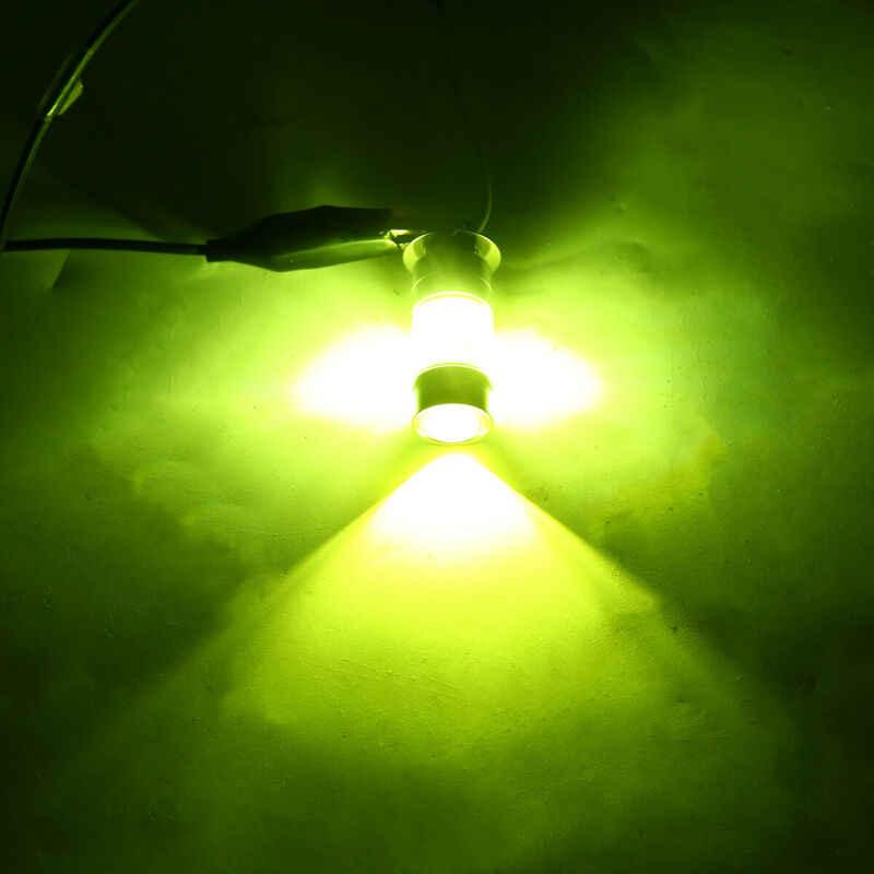2 pièces H3 100W 2828SMD LED Super lumineux voiture antibrouillard feu arrière ampoule jaune 12-24V * 360 degrés Angle de faisceau,