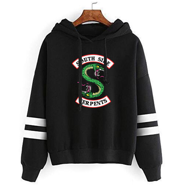 RIVERDALE SOUTH SIDE SERPENT STRIPED HOODIE (5 VARIAN)