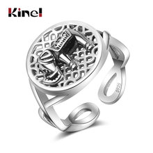 Женское Винтажное кольцо со слоном из серебра 100% пробы