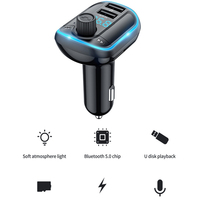 Car USB Bluetooth Coche Kit lettore MP3 vivavoce CarKit accessorio Manos lipres Bluetooth Transmisor Fm Estereos Para Auto