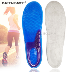 KOTLIKOFF Gel Sport Insoles Massaging Silicone Insoles Deodorant Pads Orthopedic Plantar Fasciitis Running shoe Insoles inserts