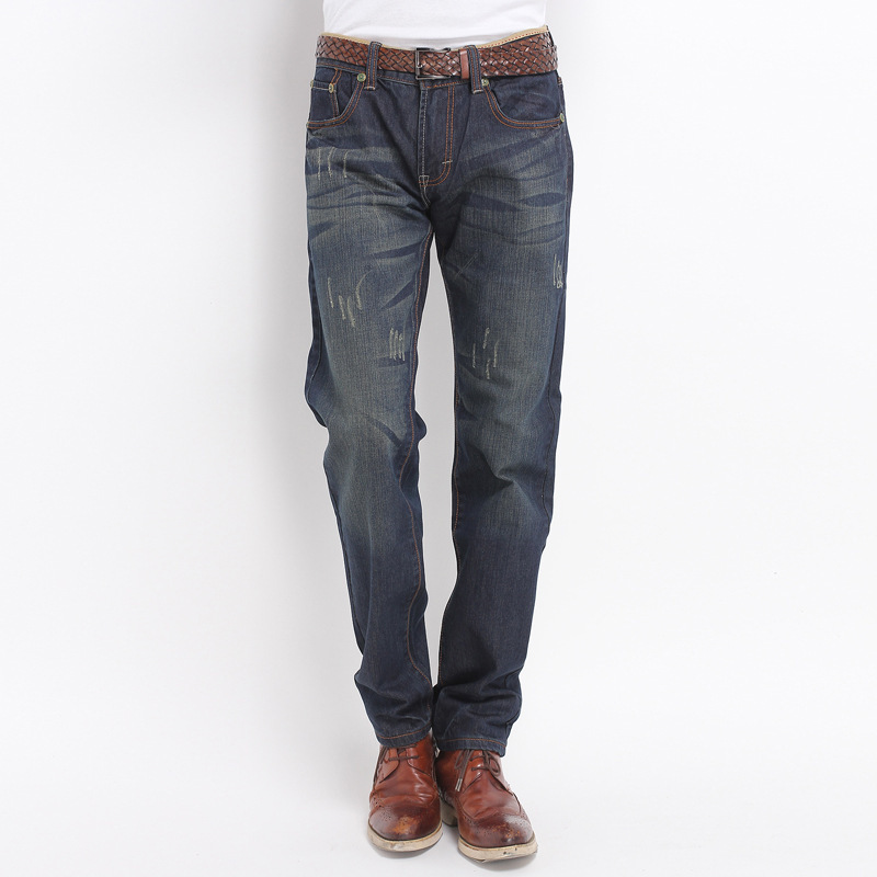 New Style Men Retro Jeans Men's Straight-Cut Four Seasons Men's Slim Fit Long Pants Fashion