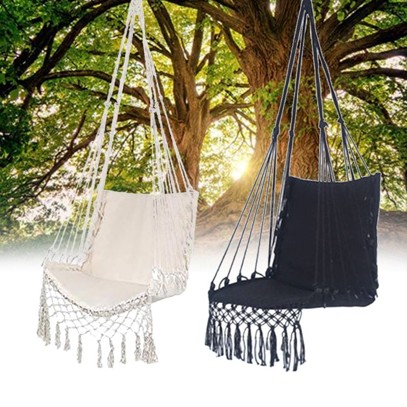 H7753bc00615f435fbedb39b69eb9115bh Nordic Style Hammock Safety Beige Hanging Hammock Chair Swing Rope Outdoor Indoor Hanging Chair Garden Seat for Child Adult