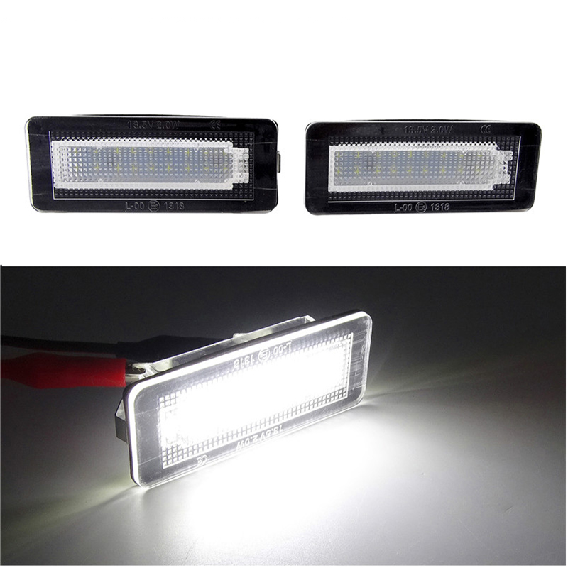 2pcs Number License Plate Light for Smart Fortwo Coupe Convertible 450 451