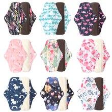 Almohadillas menstruales reutilizables de tela, absorbentes de carbón de bambú, lavables para mujeres, Panty Liner, compresas sanitarias, venta al por mayor