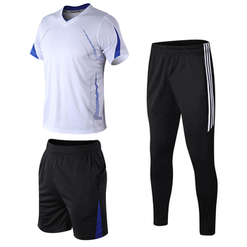 3 Pcs Set Men's Tracksuit  Gym Fitness Suit Badminton Sports Wear Clothes Running Jogging Sportswear Exercise Workout Men Set 3pcs set men s gym workout sports suit fitness compression clothes running jogging sport wear exercise workout tights