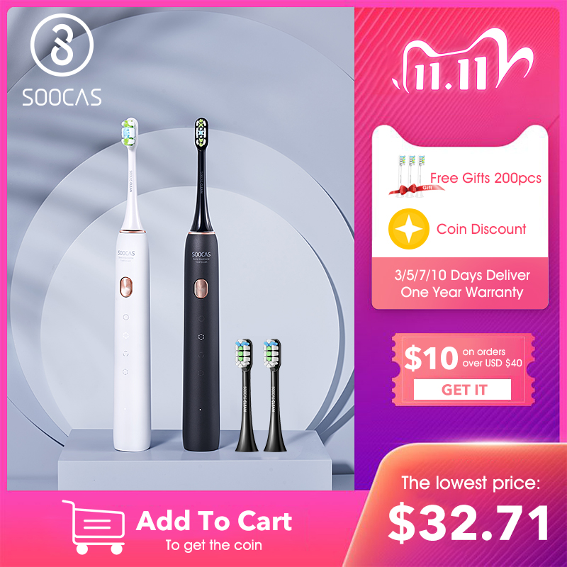 SOOCAS X3 Sonic Toothbrush Electric Tooth Brush for Xiaomi Mijia Ultrasonic Automatic Upgraded chargeable Adult Waterproof IPX7