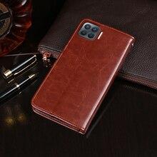 Auroras – étui portefeuille à rabat en cuir pour OPPO Reno4 Lite, 5G, accessoires de protection