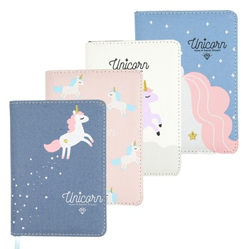 80 Sheets Kwaii Cute Unicorn Notebook Undated Daily Weekly Monthly Schedule Planner Agenda Plan Organizer Journal Dairy A6 image