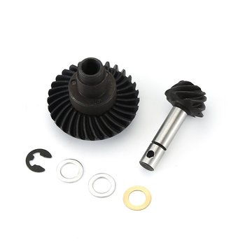Stainless Steel Heavy Duty Steel Helical Bevel Gear Set 8T 30T For Axial Scx10 Ii Ar44 90046 Axle For Child Assembly Toy