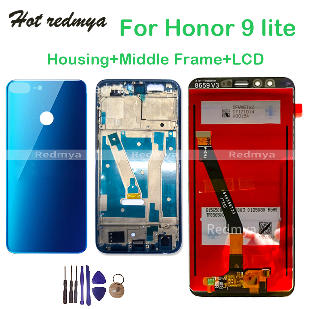 For <font><b>Huawei</b></font> <font><b>Honor</b></font> <font><b>9</b></font> <font><b>lite</b></font> LCD <font><b>Display</b></font> Touch Screen Digitizer Assembly For <font><b>Honor</b></font> <font><b>9</b></font> <font><b>Lite</b></font> Back Housing Battery Cover with <font><b>Frame</b></font>+Tools image