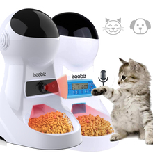 Iseebiz Update 3L Pet Feeder Wifi Remote Control Fashion Smart Automatic Pet Feeder Dogs Cat Food Rechargable With Video Monitor