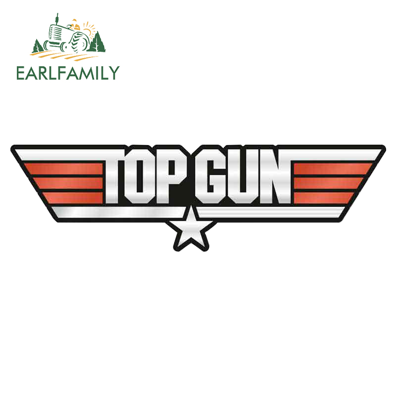 EARLFAMILY 13cm x 4.4cm for TOP GUN Car Stickers Funny Waterproof Vinyl Auto Decals ATV RV Fashion Bumper Laptop Car Wrap(China)
