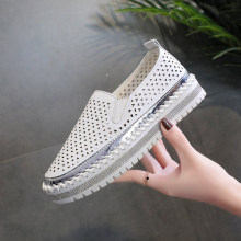 2020 Fashion Women Shoes Loafers Flats Crystal Rhinestone Casual Shoes Dames Sneakers Platform Round Toe Zapatillas Casual Mujer(China)