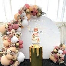 Conjunto de corrente de balão de cor morandi festa de aniversário casamento ano novo decoração suprimentos macaron balão combinação
