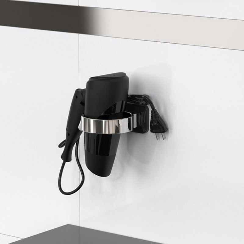 Sèche-cheveux sans poinçon support de rangement mural support de sèche-cheveux étagère pour la maison salle de bain Dressing