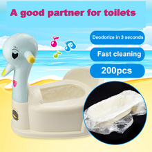 200pcs Universal Potty Training Toilet Seat Bin Bags Travel Potties Liners Disposable with Convenient Use Portable