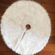 Круглая Белая плюшевая Рождественская елка, юбки 78-122 см, нетканые вечерние, новогодние ковровые покрытия, украшения для домашней вечеринки, аксессуары