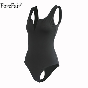 Forefair V Neck Sleeveless Sexy Bodysuit  5