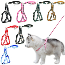 Dog Cat Harness Leash Adjustable Reflective Harness Leash Collar for Cat Small Dog Outdoor Walking Chihuahua Terier