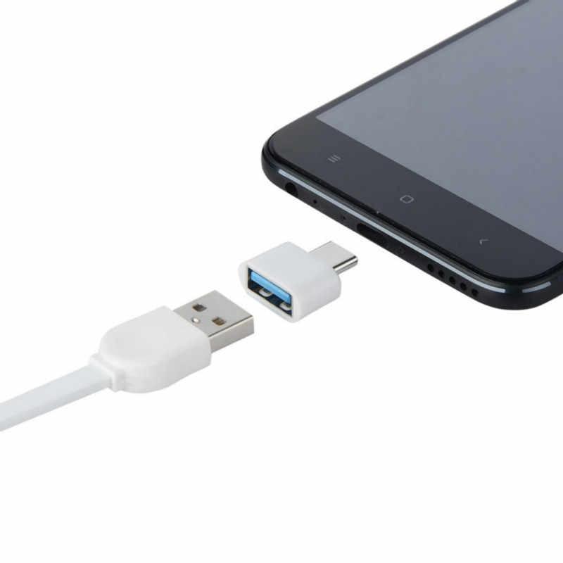 OTG Adaptor Tipe-C USB3.1 untuk USB2.0 Mini OTG Konektor Adaptor 2019 Hitam Transfer Data Converter untuk Ponsel Laptop tablet