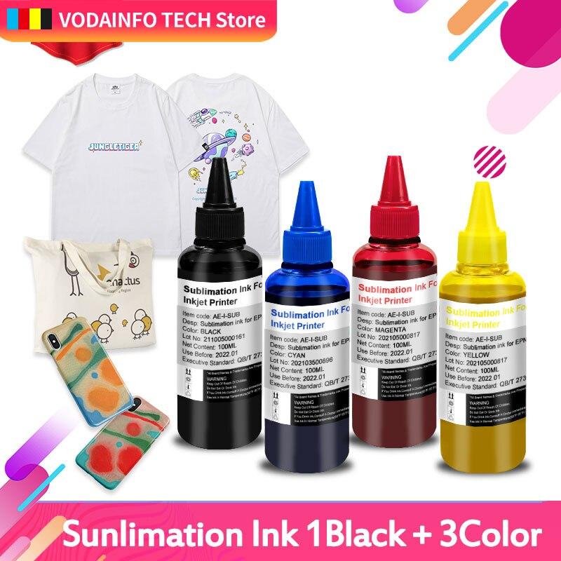 4 BottLe Inkjet Sublimation Ink Refill Universal 100ML For Epson Desktop Printer Heat Transfer Kit Press Used Mug Cup T-Shirt