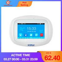 KERUI K52 WIFI GSM systemy alarmowe Panel 4.3 Cal TFT kolorowy wyświetlacz bezpieczeństwo dom inteligentny mieszkaniowy bezprzewodowy alarm antywłamaniowy Host