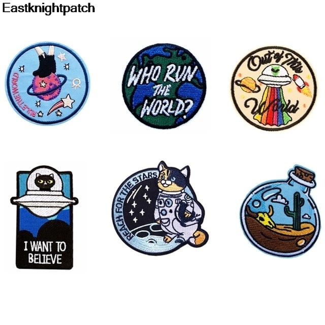 Cartoon Kawaii Mariene Leven Geborduurde Patches Ijzer Op Kind Kleding Applicaties Jersey Portemonnee Tas Schoenen Badges Stickers E1144