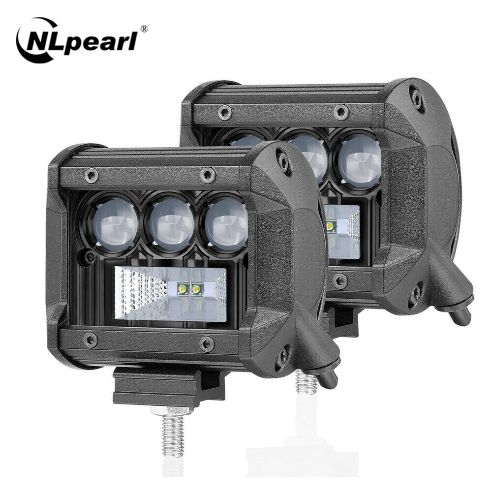 10LEDs - 60W LED Pod Lights,4Inch 2PCS LED Flood Lights LED Pods Work Light Bar Driving Fog Lights Spot Beam Super Bright Cubes Lights Off-road Jeep Truck Boat ATV SUV
