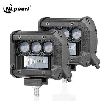 цена на Nlpearl Light Bar/Work Light 4 7 12'' Led Light Bar 5D CREE Led Bar Work Light For Offroad 4x4 4WD ATV Truck Tractors 12V 24V