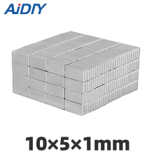 AI DIY 20/40 pcs 10x5x1mm neodymium magnet super powerful magnets rare earth Block Square 10 * 5*1