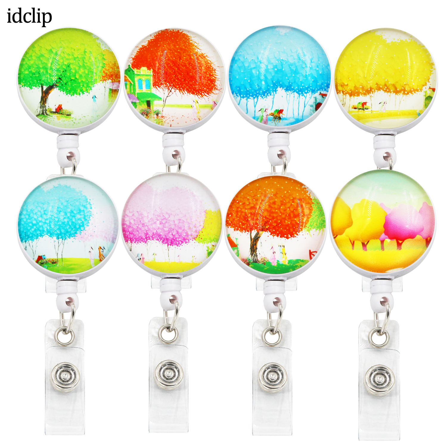 Idclip 3D ID Retractable Badge Holder With Alligator Clip Retractable Cord ID Badge Reel 24 Inch