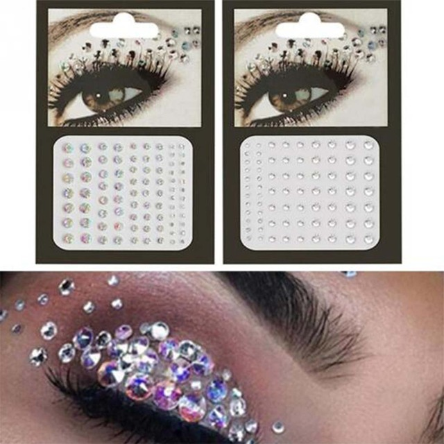 Rhinestone festival Face jewels sticker Fake Tattoo Stickers Body Glitter Tattoos Gems Flash for Music Festival Party Makeup 2