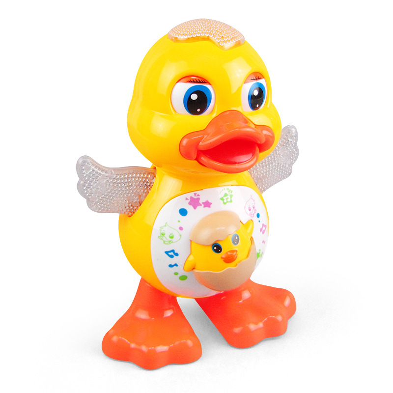 Cute Dancing Duck Educational Toy Musical Lighting Doll Interactive Kids Gift