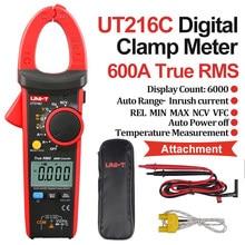 Unidad T UT216C UT213C 400A 600A amperométrica, condensador, Medidor de amperios, medidores de corriente, valores eficaces verdaderos, multímetro