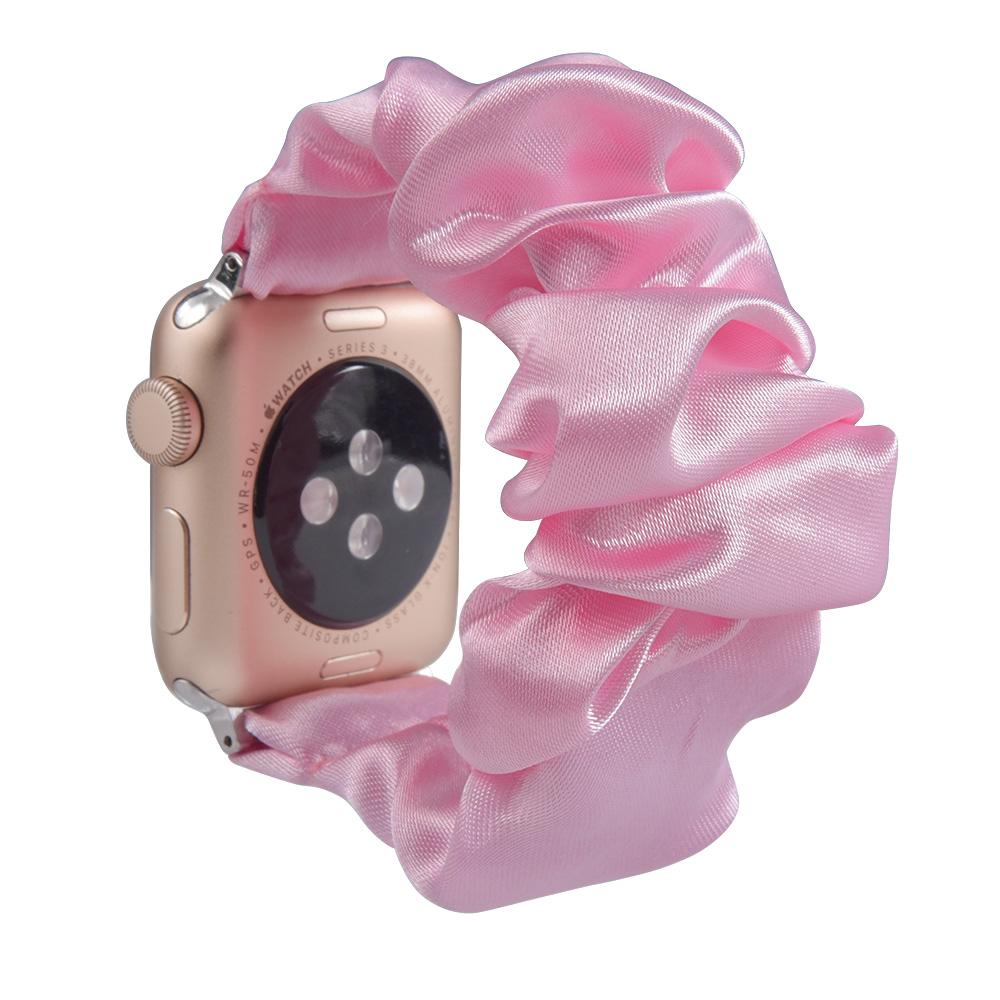 Scrunchie Elastic Strap for apple watch 6 5 band 44mm 40mm women watchband bracelet for series 5 4 3 for iwatch band 38mm 42mm